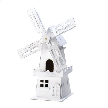 Koehler Home Outdoor Patio Garden Decorative White Dutch Windmill Cottage Birdhouse  Weight 1 6 Lbs  By Us Gift