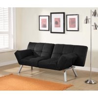 Mainstays Contempo Tufted Futon Couch, Multiple Colors