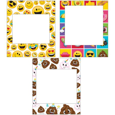 Creative Converting Show Your Emojions Photo Frames, 3 ct