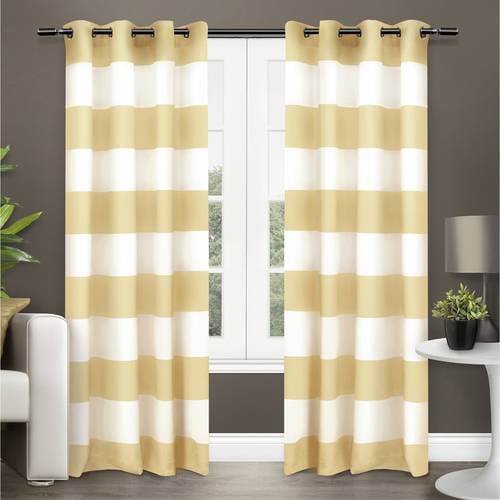 "Exclusive Home Surfside Cotton Cabana Stripe Grommet Top Window Curtain Panels 54"" X... by Exclusive Home"