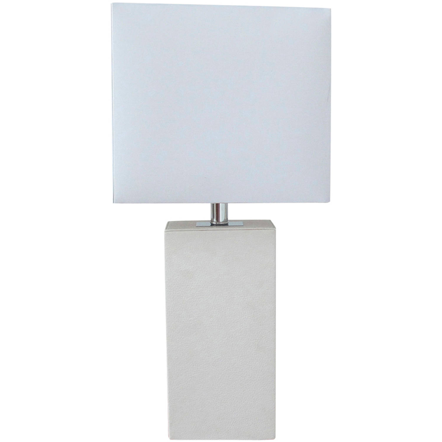 Elegant Designs Modern White Leather Table Lamp by All the Rages