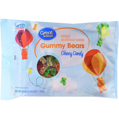 Great Value Gummy Bear Chewy Candies, 40 Oz.
