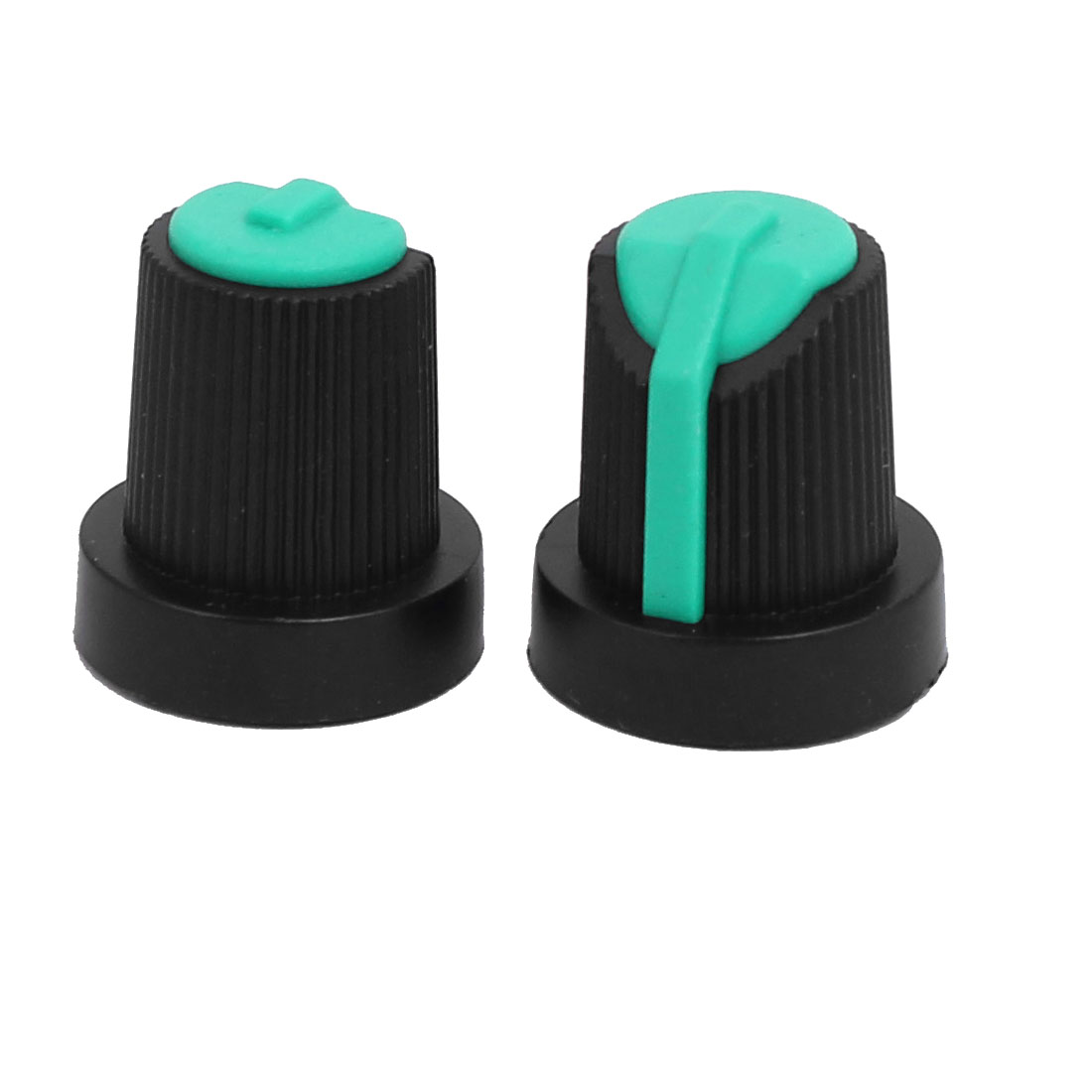 6mm Shaft Hole Dia Potentiometer Pot Knobs Caps Green Black 50 Pcs - image 1 of 3