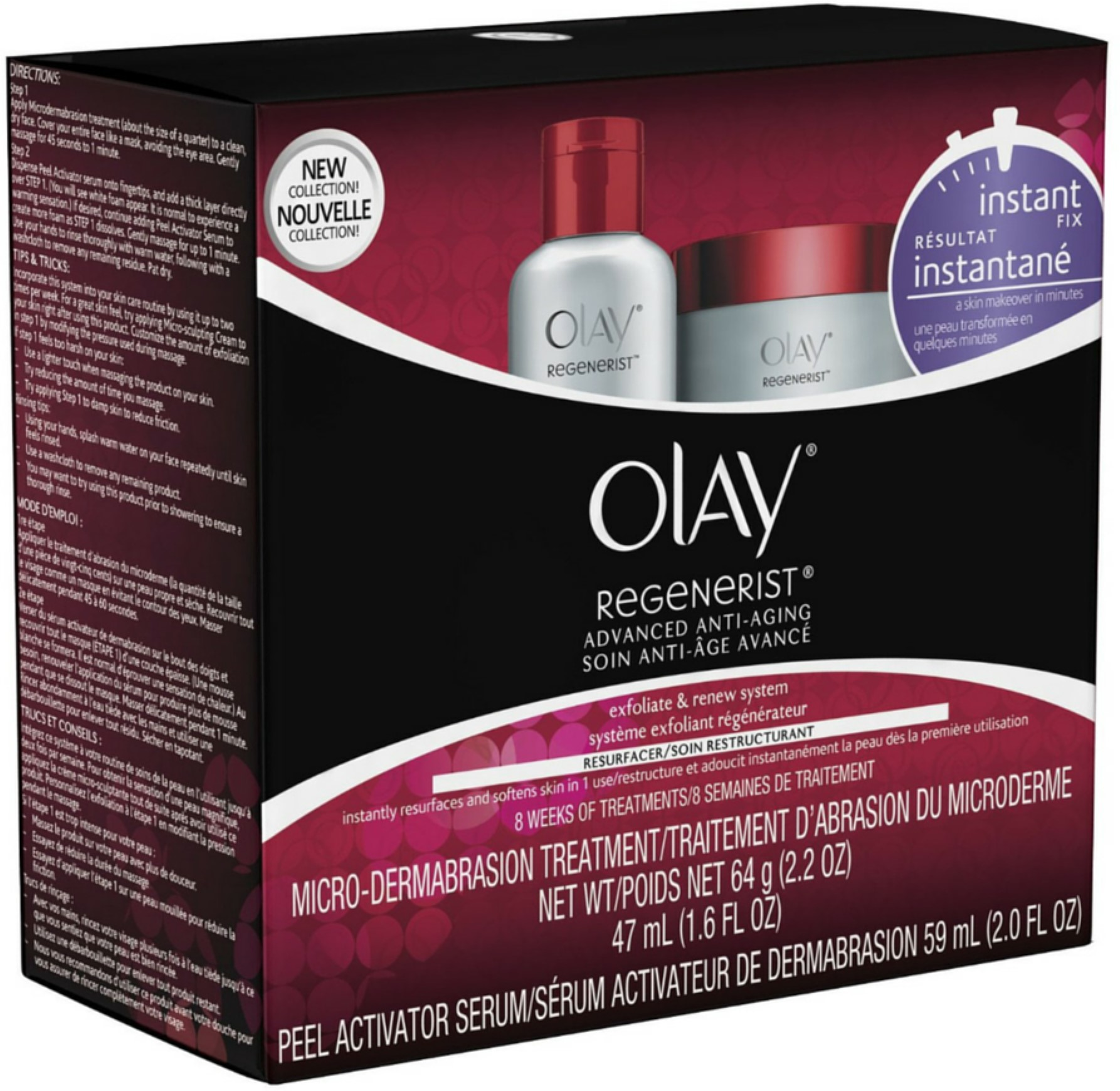 Olay Regenerist Microdermabrasion & Peel System Microdermabrasion Facial Treatment 1 Kit