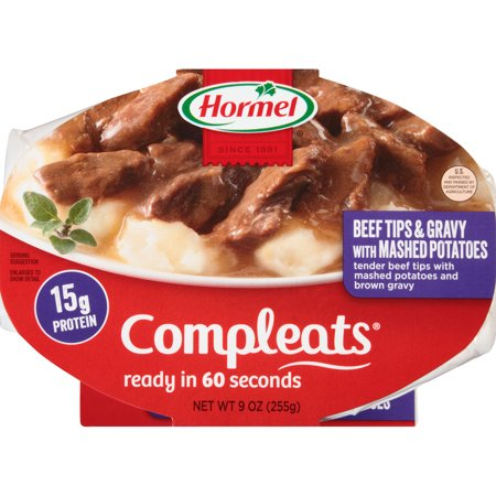 Hormel  Compleats  Beef Tips   Gravy With Mashed Potatoes 9 Oz  Container