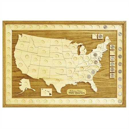 Woodworking Project Paper Plan to Build U.S. State Quarter Collection Board