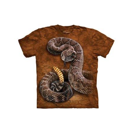 Orange Cotton Rattlesnake Design Novelty Parody Adult T-Shirt