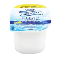 Hormel Food Sales Thickened Water Thick & Easy Hydrolyte 4 oz. Portion Cup Lemon Flavor Ready to Use Honey Consistency Case of 24
