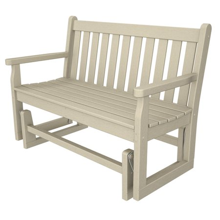 POLYWOOD® Traditional Recycled Plastic 48 in. Outdoor Glider Loveseat