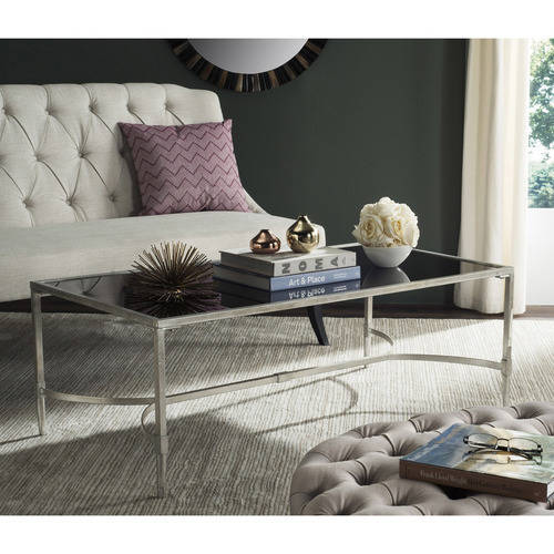 "Safavieh Antwan 50"" Width Iron Cofee Table, Multiple Colors by Safavieh"