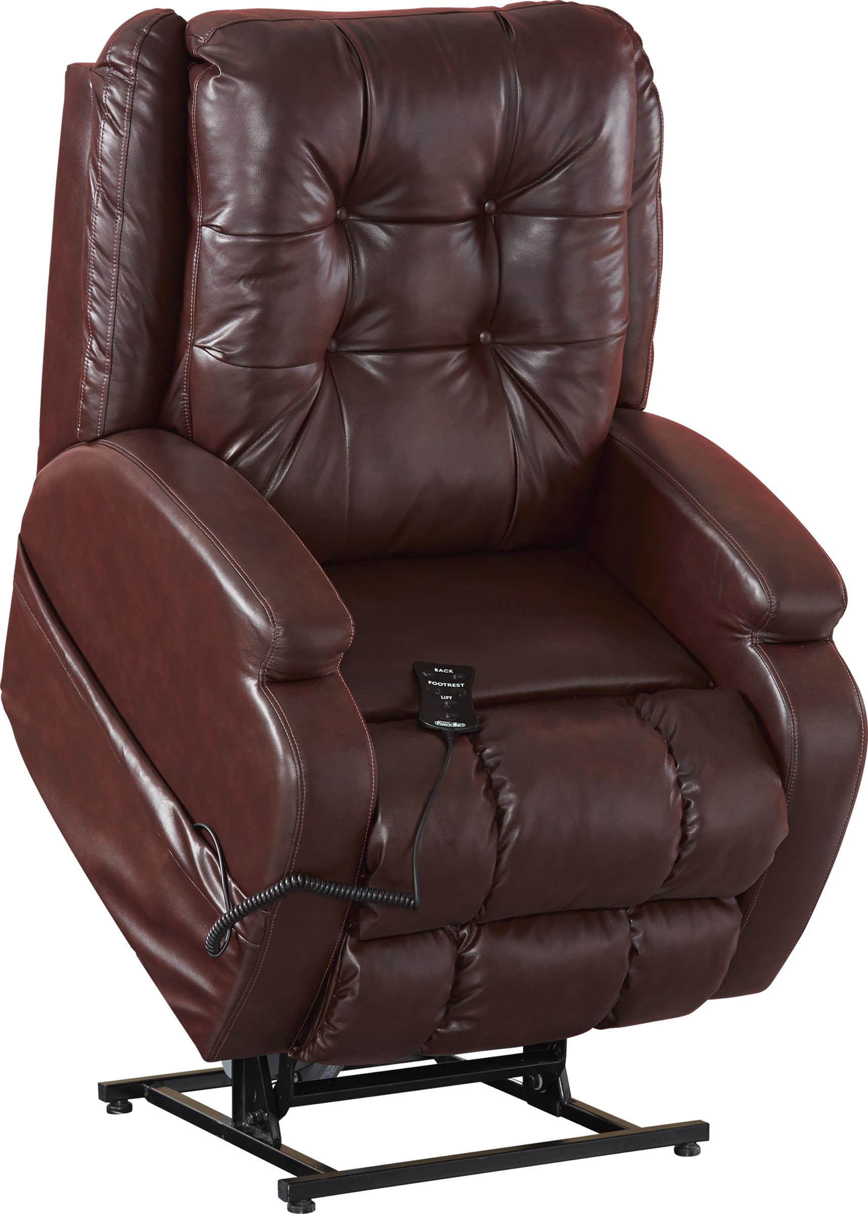 Catnapper Jenson 4855 Power Lift Chair & Recliner Burgundy (curbside delivery) by Catnapper