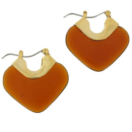 Faux Tortoise Lucite Dangle Pierced Earrings Dangling Faux Earrings