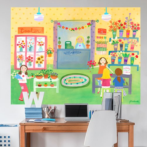 Oopsy Daisy Flower Shop by Jill McDonald Wall Decal