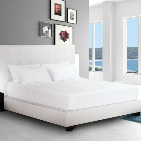 Pillow Mattress Cover - Queen Mattress Protector + 2 Pillow Protectors Bundle - Premium Hypoallergenic 100% Waterproof - Vinyl Free - 10 Year Warranty