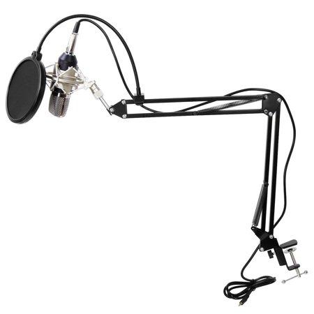 Condenser Microphone Mic Clip Studio Audio Recording Table Arm Stand Set Gift - image 4 de 12