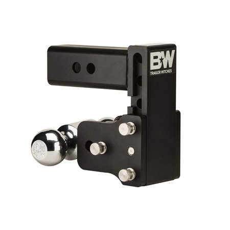 B&W Trailer Hitches TS20037B Tow and Stow 2.5 Inch Shank Dual Ball Hitch Mount with 5 Inch Drop 2-1/2