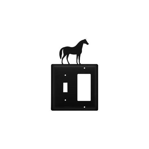 Village Wrought Iron ESG-68 Horse - Single Switch and GFI Cover