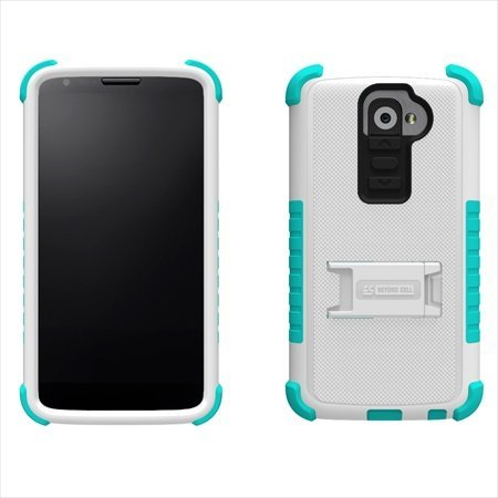 Tri Shield Durable Hybrid Hard Shell & TPU Gel Case for Lg G2 2013 (At&t, Verizon) - White/light Blue, Uniquely designed case with multi layers of protection By Beyond Cell