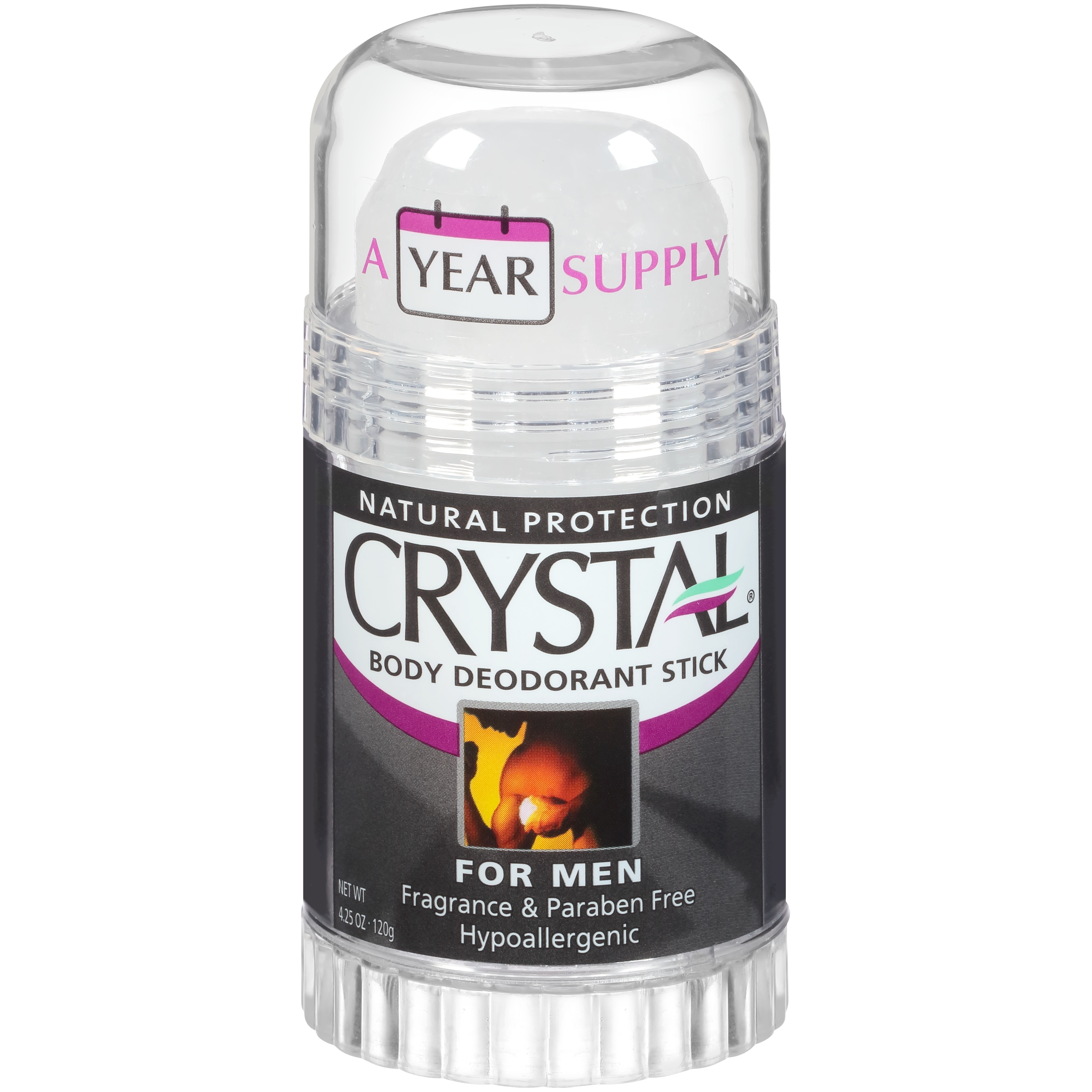 Crystal® Body Deodorant Stick for Men 4.25 oz. Stick