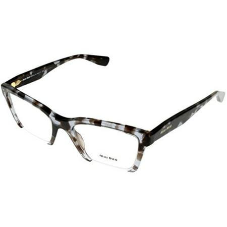 e45cb98772 Miu Miu Prescription Eyewear Frames Women Semi Rimless Brown Spotted Havana  MU 04NV UAH1O1 Size  Lens  Bridge  Temple  52 20 140 37 - Walmart.com
