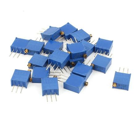A15060800ux0579 20 pcs 3296 W-102 Haute précision résistance Garniture Pot potentiomètre Trimmer – Bleu (1 pièce) - image 1 de 1