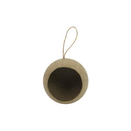 PA Paper Mache Ornament 1/2 Ball Open -
