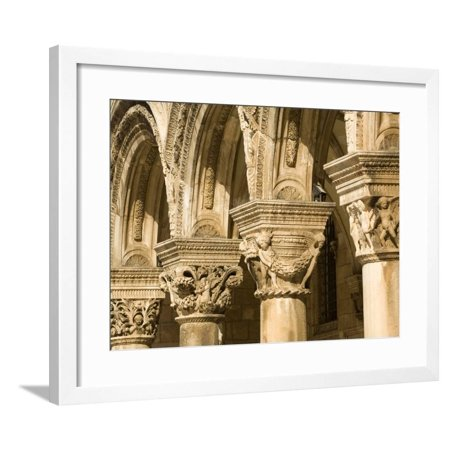 Stone arches and columns at entrance to Rector's Palace, Dubrovnik, Dalmatia, Croatia Framed Print Wall Art By John & Lisa Merrill](Halloween Entrance Columns)