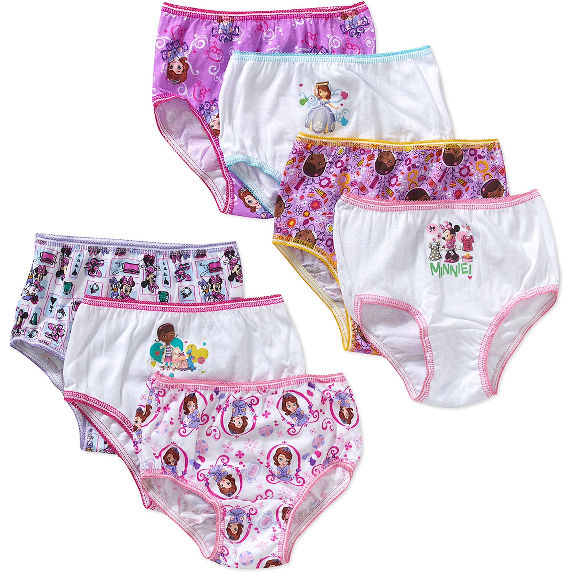 Disney Jr. Toddler Girls Underwear, 7 Pack