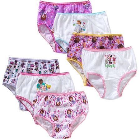 Disney Junior Underwear Panties, 7 Pack (Toddler Girls)