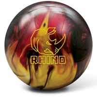 Brunswick Rhino Reactive Bowling Ball- Red/Black/Gold Pearl