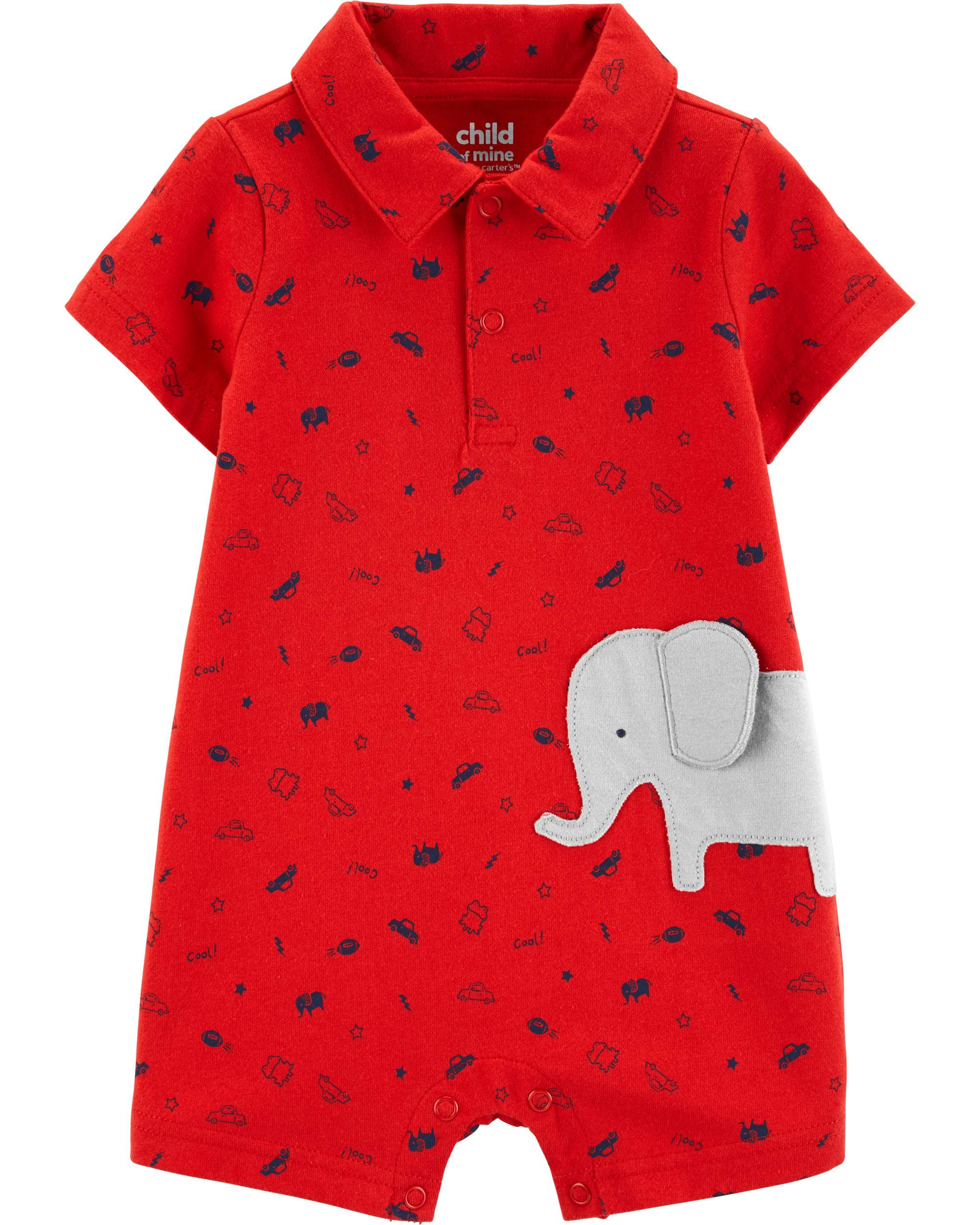 007d93fe71d3 Child of Mine by Carter s - Short Sleeve Footless Outfit