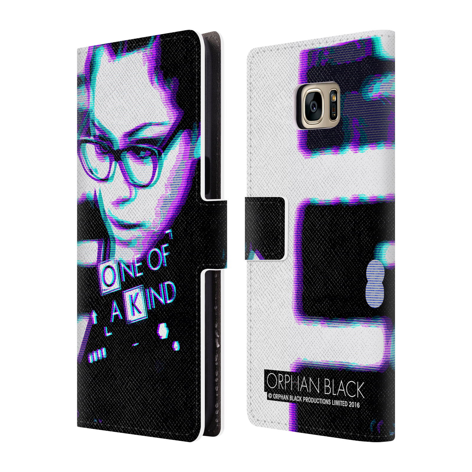 OFFICIAL ORPHAN BLACK ONE OF A KIND LEATHER BOOK WALLET CASE COVER FOR SAMSUNG PHONES 1