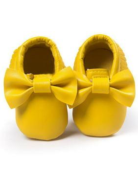 Product Image Babula Baby Girl Bowknot Fringed Kids Leather Soft Soled Crib  Shoes 1c916d86109e