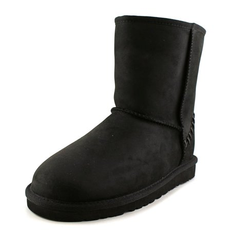 Ugg Australia Classic Youth  Round Toe Suede Black Winter Boot](Black Uggs Outfit)
