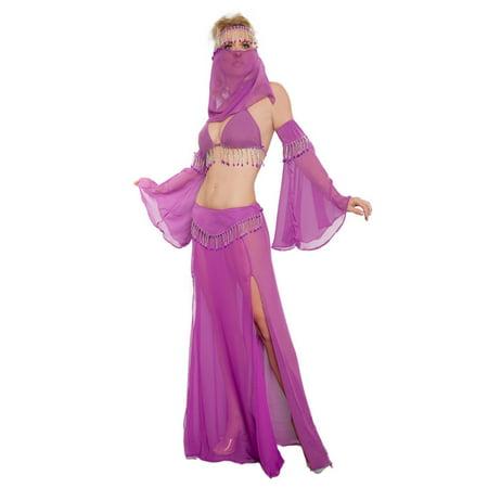 Adult Sheer Purple Genie Sexy Costume