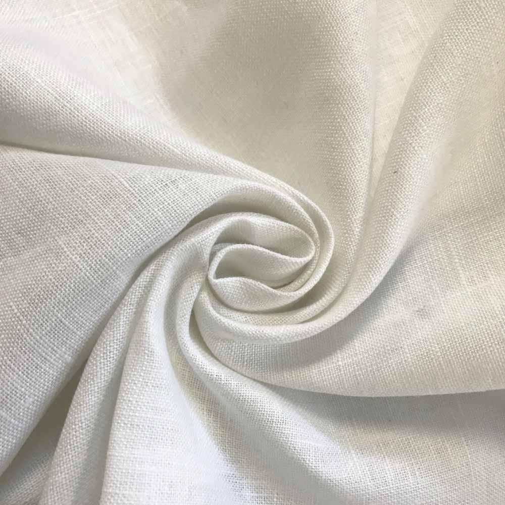 "Linen Fabric 60"" Wide Natural 100% Linen By The Yard (White)"