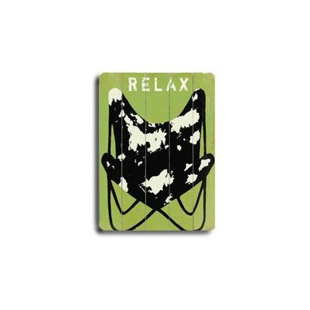 Artehouse LLC Relax Planked Sign by Lisa Weedn Graphic Art Plaque