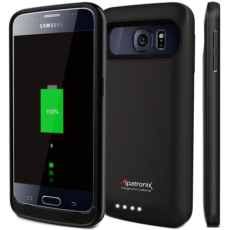 best sneakers 530ad e43fc Alpatronix BX410 3500mAh Samsung Galaxy S6 Portable Battery Case Charger