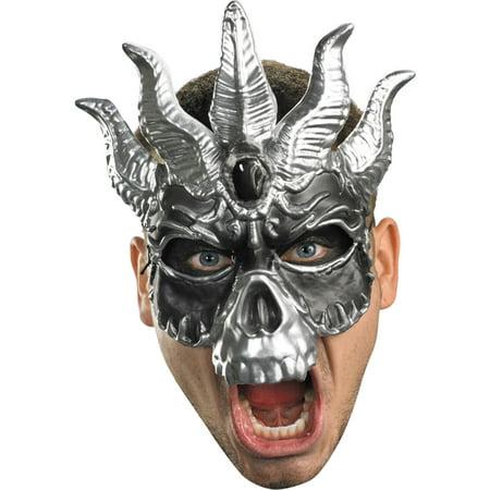 Morris Costumes Mens Skull Plastic Masquerade Mask, Style DG40166 - Plastic Skull Heads