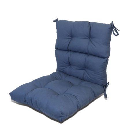 Magshion Outdoor/Indoor Pretty Wicker Seat/Back Chair Cushion Made in USA Navy Blue ()