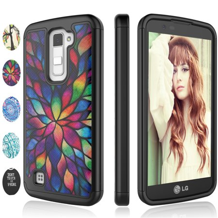 LG K10 Case, LG Premier LTE L62VL L61AL Case,LG K10 Case For Girls, Njjex [Color Petal] Lovely Adorable Retro Pattern Bling Crystal Plastic Sturdy Bumper Cases Cover For LG K10](Plastic Bling)