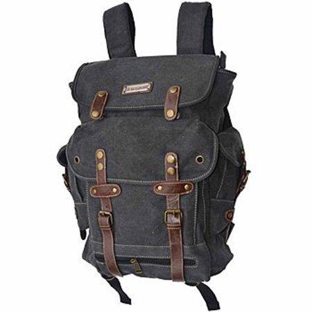 EuroSport WWII Canvas Backpack Bag Black (Eurosport Canvas Backpack)