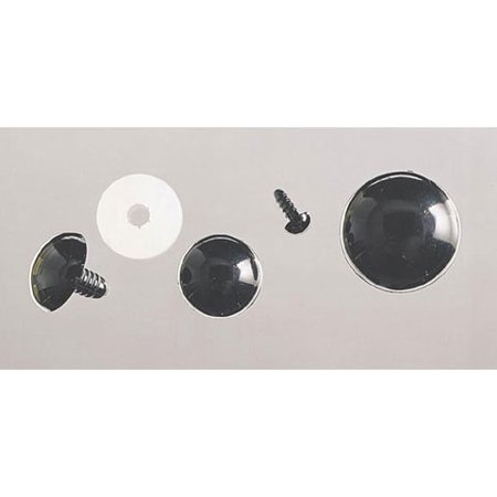 50 Piece Solid Black Eyes With Plastic Washer 9Mm