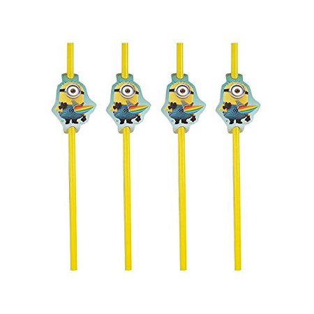 Despicable Me 2 Minion (24)pc Plastic Straws Birthday Party Supplies~ By Disposable Drinking Straws - Birthday Minion