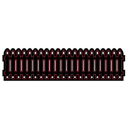 Die Cut Emboss Stencil Picket Fence Border By
