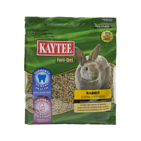 Kaytee Forti-Diet Rabbit Pelleted Food, For Dental Health, 4 Pounds