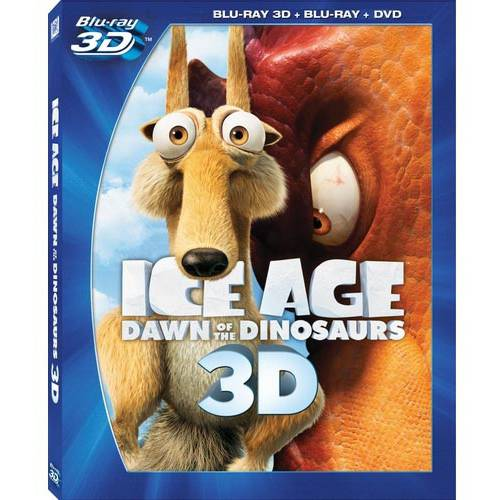 Ice Age 3: Dawn Of The Dinosaurs (3D Blu-ray + Blu-ray + Standard DVD) (With INSTAWATCH) (Widescreen)