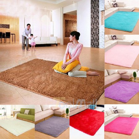 1pcs 47 Quot X31 Quot Fluffy Rectangle Floor Rug Anti Skid Shaggy