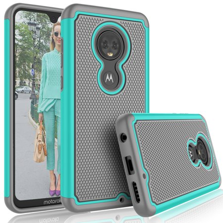 Red Hard Case Lcd (Cases for Motorola Moto G7 Power / G7 Play / G7 Plus / G7, Tekcoo [Tmajor] Shock Absorbing Rubber Silicone & Plastic Bumper Grip Cute Sturdy Hard Cases Cover for Motorola Moto G (7th Generation) )