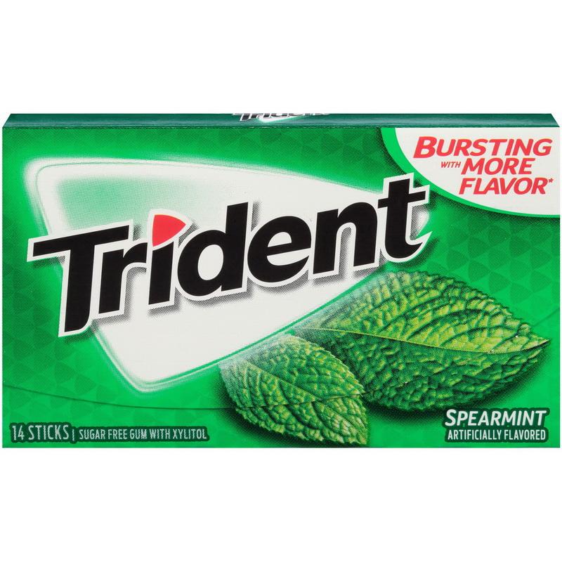 (Price/CASE)Trident 01106 New Gum Spearmint Sugar Free12X14.000 Pc